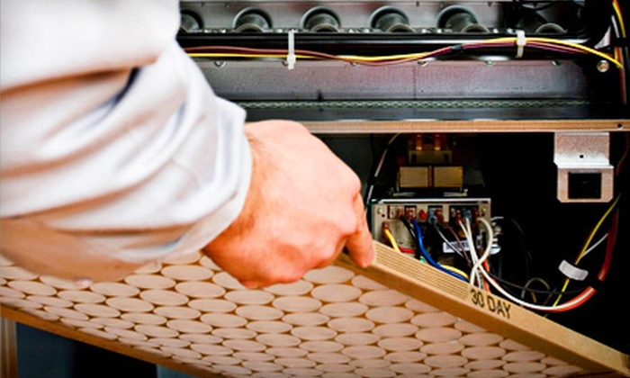 Service Today - Asheville: $33 for a 22-Point Air-Conditioner Inspection with New Filter from Service Today ($89 Value)