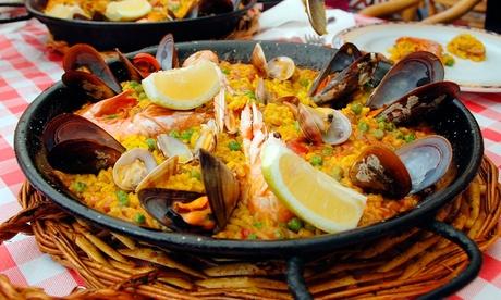Paella de marisco, ciega, mixta o arroz negro para 2 o 4 desde 24,95 € en el paseo marítimo de Palma