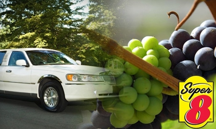Super 8 North of the Falls - Niagara Falls: $399 for a Three-Hour Limo Wine-Country Tour Plus a Room for Two at Super 8 in Niagara Falls, Ontario (Up to $800 Value)