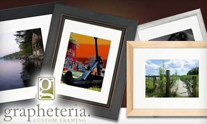 Grapheteria - West Bayside: $40 for $100 Worth of Custom Framing and More at Grapheteria