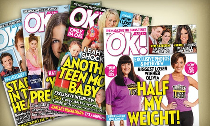 """OK! Magazine"": $25 for a One-Year Subscription to ""OK! Magazine"" from BlueDolphin.com ($59.95 Value)"