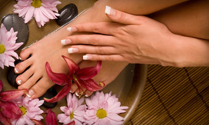 Beauty and Beyond Personal Enhancement Center - West Arlington: Spa Mani-Pedi or Body-Wrap Treatment at Beauty and Beyond Personal Enhancement Center in Arlington