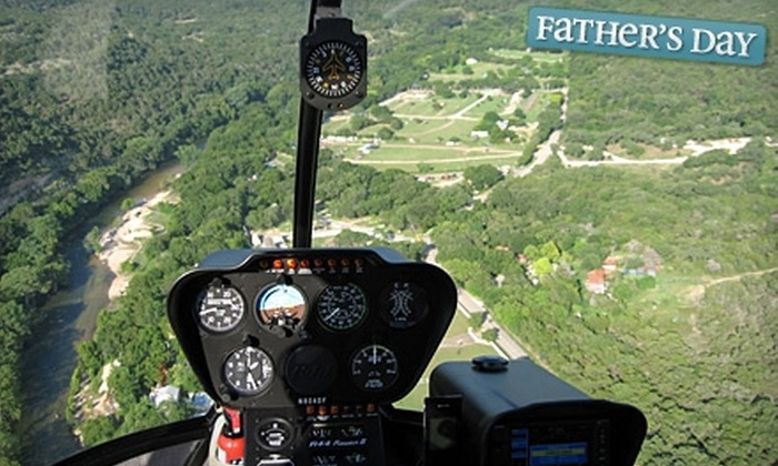 Helicopter Tours of Texas - New Braunfels: $135 for Helicopter Tour of East-Central Texas for Three People from Helicopter Tours of Texas ($272.21 Value)
