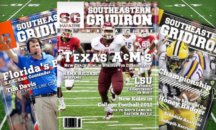 "Southeastern Gridiron Magazine - Houston: One-Year Silver or Gold or Two-Year Gold Subscription to ""Southeastern Gridiron Magazine"" (Up to 75% Off)"
