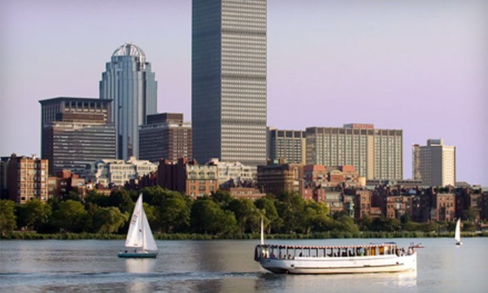 Charles Riverboat Company - East Cambridge: $20 for Charles River Tour or Sunset Cruise for Two at Charles Riverboat Company in Cambridge (up to $34 Value)