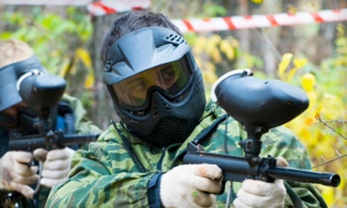 Paintball Knights - St. Hedwig: $10 for Admission, Equipment Rental, 100 Paintballs, and All-Day CO2 at Paintball Knights in St. Hedwig ($22 Value)