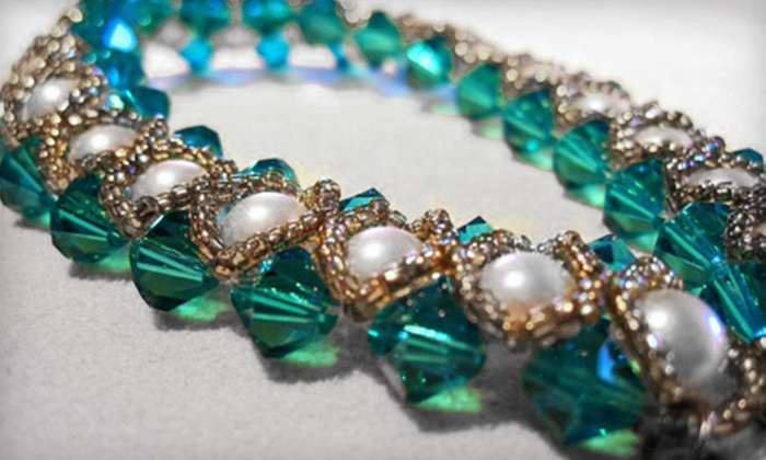 Crystal Rain Jewellery - Oliver: $35 for a Jewellery-Making Party for Two People with $20 Toward Supplies from Crystal Rain Jewellery ($75 Value)
