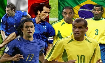 Ticket Package to Brazil vs. Italy Legends Soccer Match at Lockhart Stadium on Friday, October 24 (Up to 64% Off)