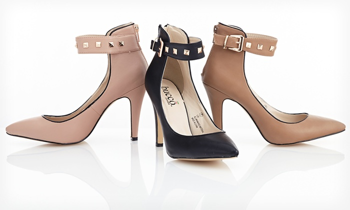 Bucco Lux Ankle-Strap Pumps: $34.99 for Bucco Lux Ankle-Strap Pumps ($85 List Price). Multiple Colors and Sizes Available. Free Shipping and Returns.