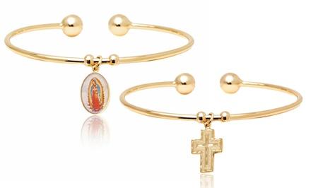 Women's Religious Charm Cuff Bracelets
