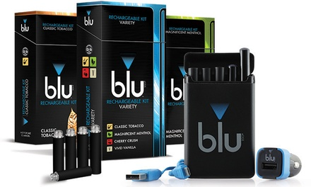 groupon daily deal - $17.50 for a blu eCigs Rechargeable E-Cigarette Kit ($34.99)