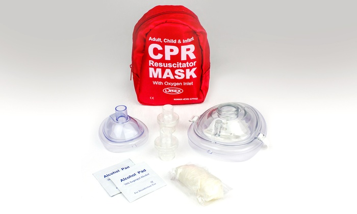 Ever Ready First Aid Adult and Infant CPR Mask Combo Kit with 2 Valves