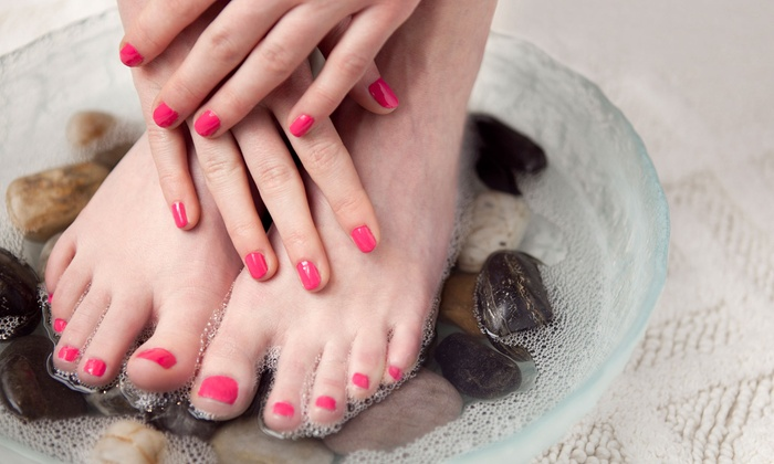 One Touch of Paradise - East End: $27 for a Spa Mani-Pedi at One Touch of Paradise ($55 Value)