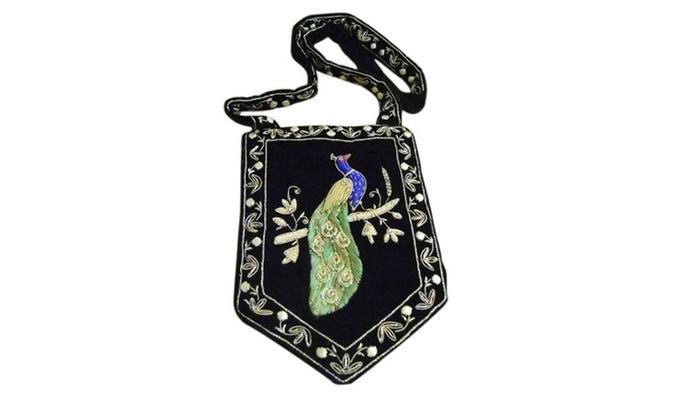 KADA - Kada: Hand-Embroidered Shoulder Bag or Bamboo Jute Handbag with In-Store Pickup at KADA (Up to 82% Off)