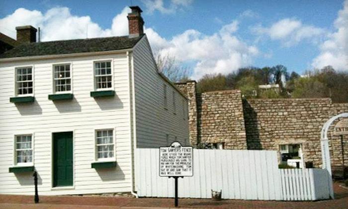 Mark Twain Boyhood Home & Museum - Hannibal: Mark Twain Boyhood Home & Museum Visit for Two or Four or a One-Year Family Membership (Up to 53% Off)