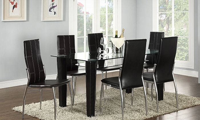 Glass Dining Table And Chairs Set From 169 99 With Free Delivery Up To 76 Off