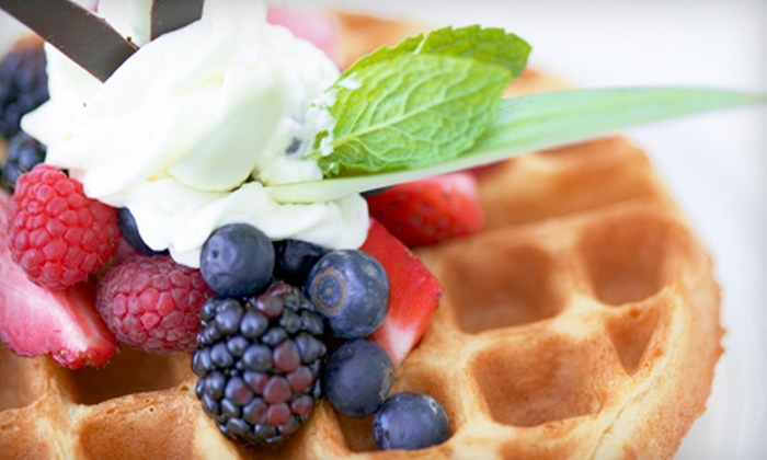 Off the Vine Coffee and Wine Bar - Englewood: $30 for Brunch and Bottomless Mimosas for Two at Off The Vine Coffee and Wine Bar in Englewood (Up to $60 Value)