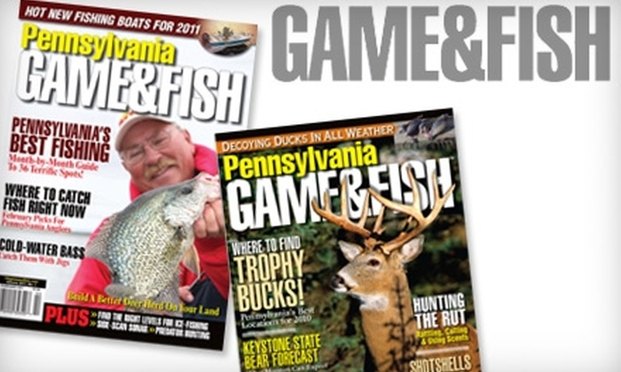 """Pennsylvania Game & Fish"" Magazine - Erie: $8 for a One-Year Subscription to ""Pennsylvania Game & Fish"" Magazine"