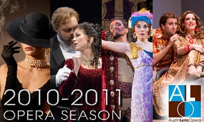 Austin Lyric Opera - Austin: $149 for Season Tickets to Austin Lyric Opera (Up to $354 Value)
