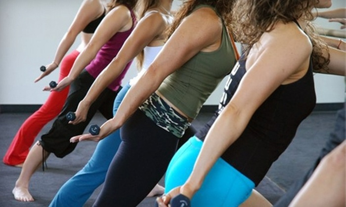 Cardio Barre - Multiple Locations: $39 for 10 Fitness Classes at Cardio Barre (Up to $160 Value). Five Locations Available.