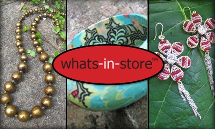 whats-in-store - Atlanta: $20 for $50 Worth of Jewelry, Accessories, and More at Whats-in-Store
