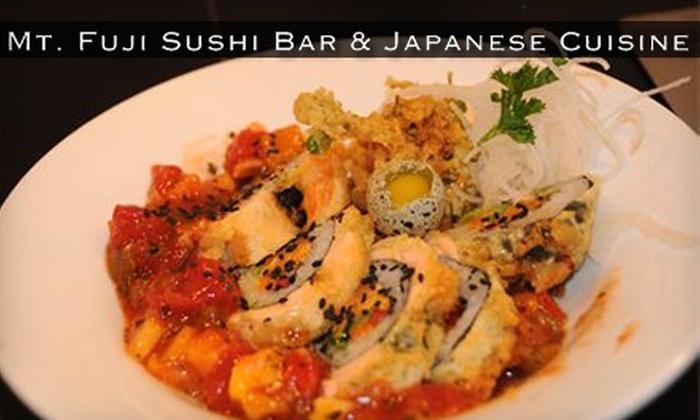 Mt. Fuji Sushi Bar & Japanese Cuisine - Sandy: $12 for $25 Worth of Japanese Fare at Mt. Fuji Sushi Bar & Japanese Cuisine