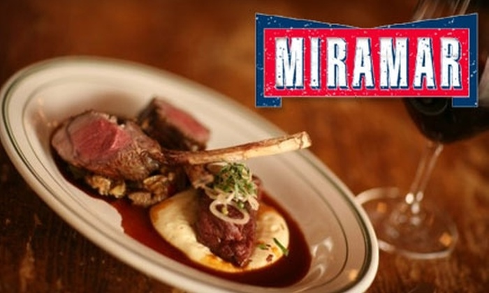 Miramar Bistro - Highwood: $20 for $40 Worth of Upscale Bistro Cuisine at Miramar Bistro in Highwood