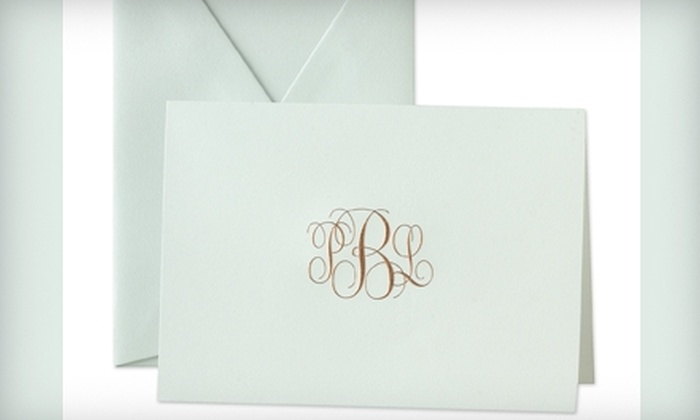 Crane & Co. - Multiple Locations: $50 for $100 Worth of Personalized Stationery, Business Cards, Invitations, and More from Crane & Co.