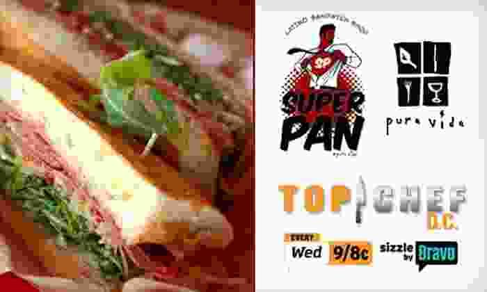 Hector Santiago's Restaurants - Multiple Locations: Half Off at Two Hector Santiago Restaurants. Choose from Pura Vida Tapas & Bar or the new Super Pan Latino Sandwich Shop.
