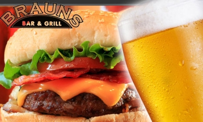 Braun's Bar and Grill - Auraria: $10 for $25 Worth of Tasty Pub Fare, Drinks, and More at Braun's Bar and Grill