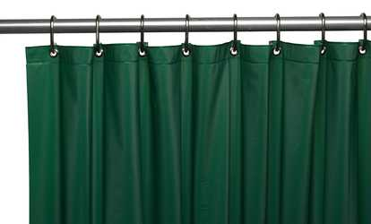 Shop Groupon Premium Grommeted Vinyl 72 X Shower Curtain Liner