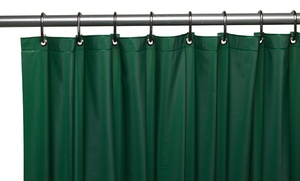 "Premium Grommeted Vinyl 72"" x 72"" Shower Curtain Liner"