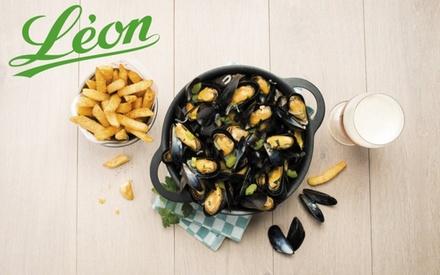 Chez Léon de Bruxelles, pour 1€ seulement, profitez de 12€ de remise sur l'addition pour un repas d'au moins 2 personnes
