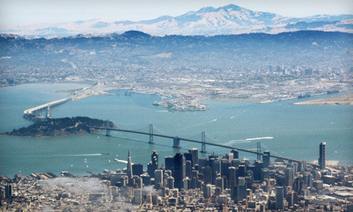 San Carlos Flight Center - San Carlos: $199 for Bay Area Aerial Tour for up to Three or Flight Lesson for Two at San Carlos Flight Center (Up to $400 Value)