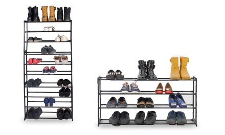 Shoe Racks: Four-, Seven- or Ten-Tier from £6.98 (Up to 73% Off)