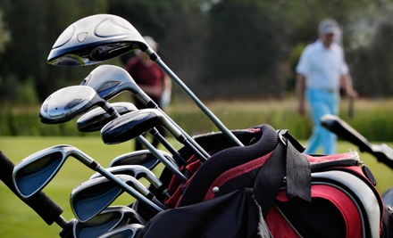 Champion Putter or Hybrid Club and 18-Hole Round of Golf with Cart at Lonnie Poole Golf Course (Up to 75% Off)