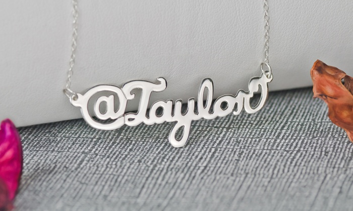 """Monogramhub.com: Personalized """"@"""" or """"#"""" Name Necklace from Monogramhub.com (Up to 74% Off). Four Options Available."""