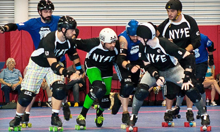 New York Shock Exchange - Old Bethpage: Outing for Two or Four to Men's Roller Derby at Skate Safe America in Old Bethpage on October 22