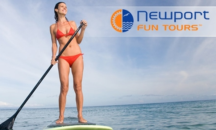 Newport Fun Tours - Newport Beach: $20 for a Two-Hour Surfboard, Stand-Up Paddleboard, or Boogie-Board Rental from Newport Fun Tours ($40 Value)