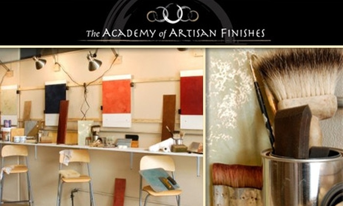 The Academy of Artisan Finishes - Bull Mountain: $25 for a Demonstration Finishing Class from The Academy of Artisan Finishes ($50 Value)
