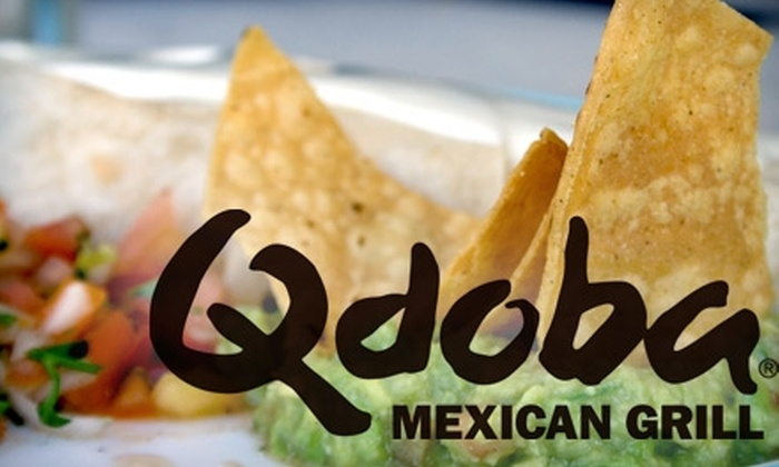 Qdoba Mexican Grill - Multiple Locations: $6 for $12 Worth of Fresh Mexican Cuisine at Qdoba Mexican Grill