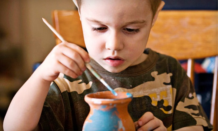Creative Kids Place - Erin Mills: Five Drop-In Mom-and-Tot Craft Sessions or $7 for $15 Worth of Ceramic Painting at Creative Kids Place in Mississauga