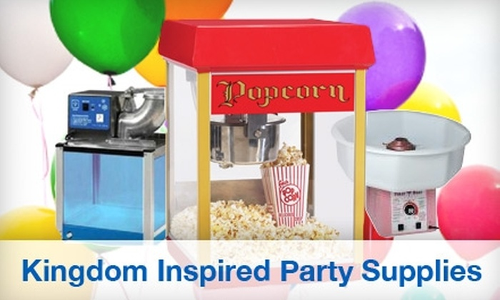 Kingdom Inspired Party Supplies - Hampton Roads: $40 for a Five-Hour Rental of a Cotton-Candy, Popcorn, or Snow-Cone Machine from Kingdom Inspired Party Supplies ($80 Value)