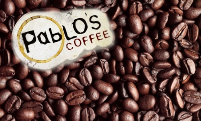 Pablos Coffee - Speer: $14 for Two 1-Pound Bags of Coffee and a Small Cup of Drip Coffee at Pablo's Coffee (Up to $35.35 Value)
