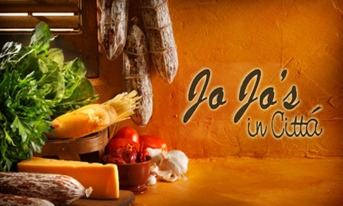 JoJo's in Cittá Restaurant - Downtown St. Petersburg: $10 for $20 Worth of Southern Italian Dinner Fare and Drinks