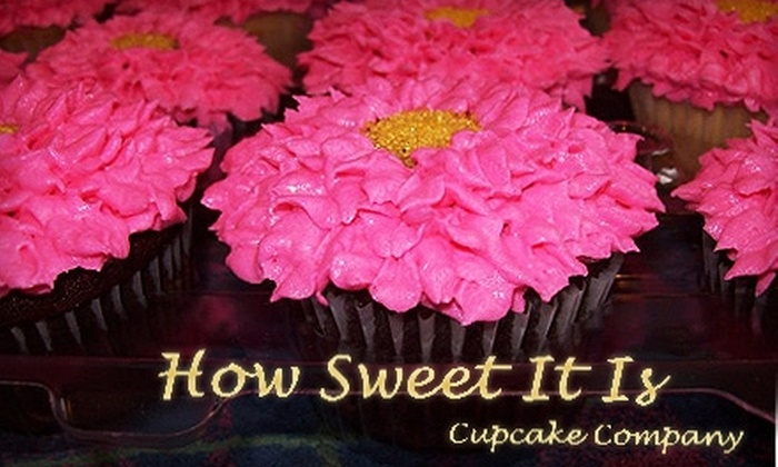 How Sweet It Is Cupcake Company: $12 for a Dozen Cupcakes from How Sweet It Is Cupcake Company in Moorestown (a $24 Value)
