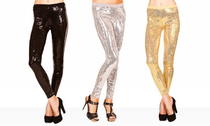 Just One Sequined Leggings: Just One Sequined Leggings. Multiple Colors Available. Free Returns.
