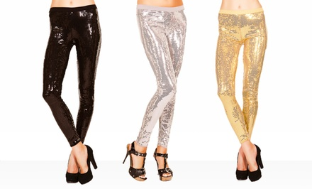 Just One Sequined Leggings. Multiple Colors Available. Free Returns.