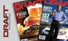 """DRAFT"" Magazine - Minneapolis / St Paul: $10 for a One-Year Subscription to Bi-Monthly ""DRAFT"" Magazine ($19.99 Value)"