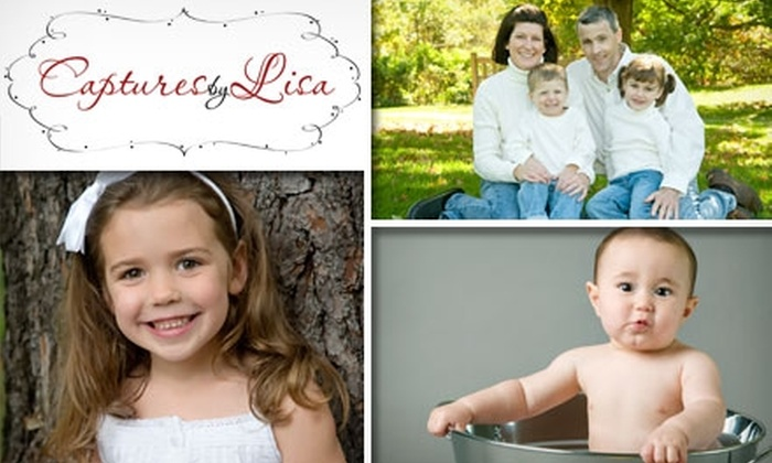 Captures by Lisa - Maynard: $75 Mini Portrait Session and Three Sheets of Prints at Captures by Lisa (Up to $195 Value)